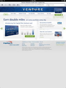 Capital One iPad