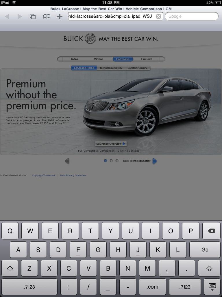 WSJ Buick Landing Page iPad Specific