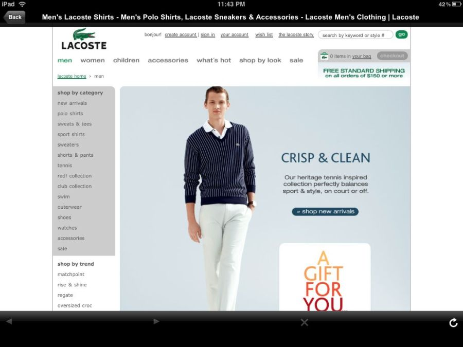 GQ Lacoste Ad Landing Page