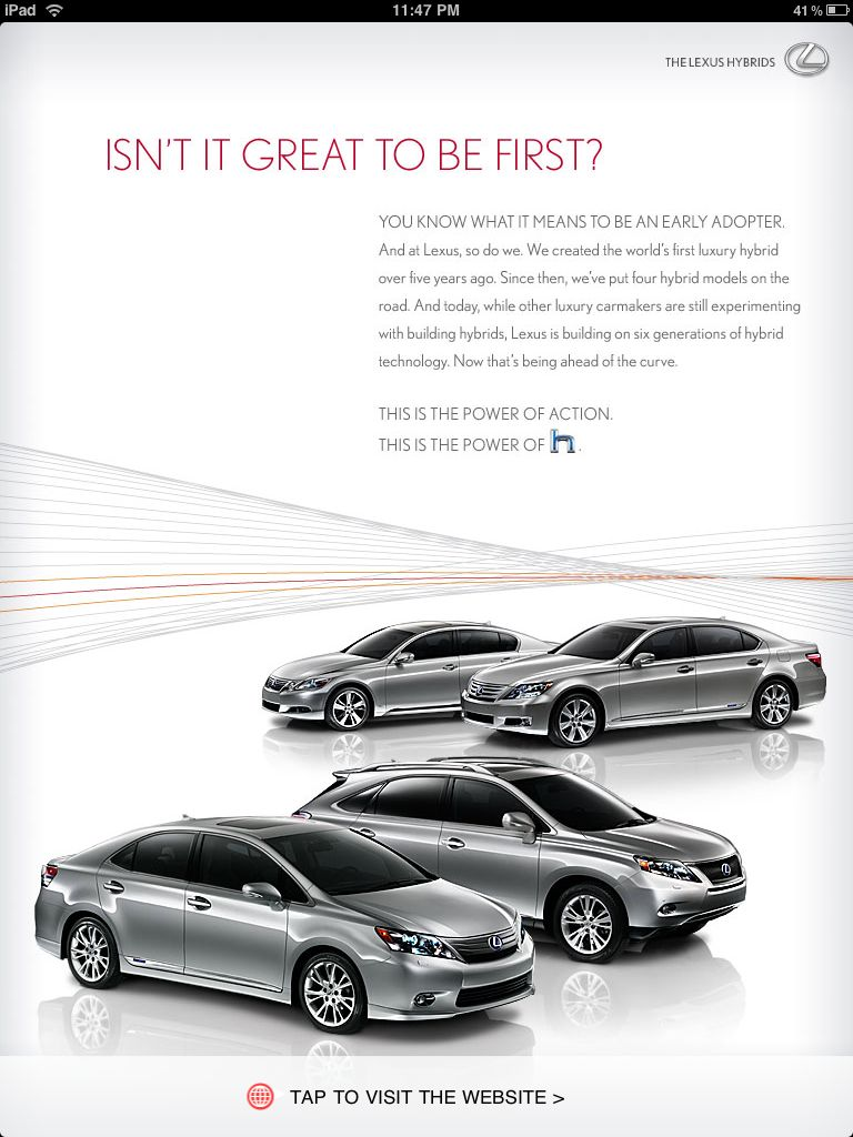 GQ Lexus Ad Portrait
