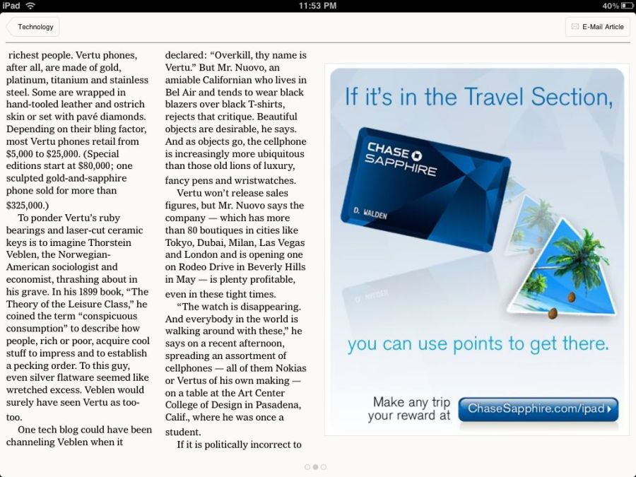 NYTimes Chase Ad in Landscape